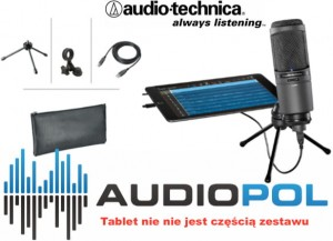 Audio Technica AT2020USBi + etui kable statyw