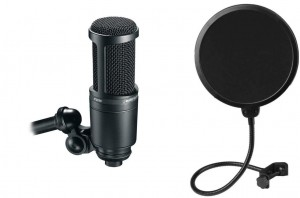 Audio Technica AT2020 + Popfilter